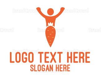 Man - Carrot Man logo design