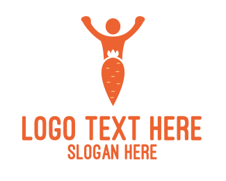 Carrot - Carrot Man logo design
