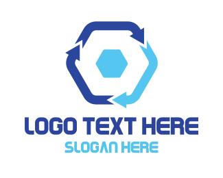 Arrow - Hexagon Arrow Cycle logo design