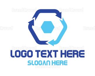 Arrows - Hexagon Arrow Cycle logo design