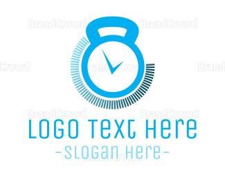 Kettlebell - Gym Timer logo design