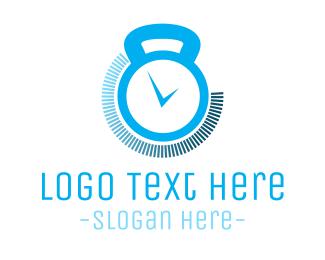 Weight - Fitness Gym Training Timer logo design