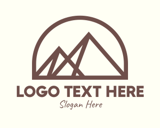 Giza - Egyptian Pyramid Landmark logo design