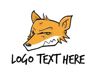 Coyote - Orange Coyote  logo design