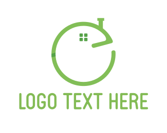 Chimney - House Letter E logo design