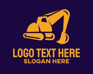 Excavate - Construction Excavator logo design