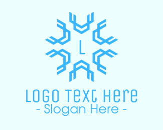 Snowflake - Blue Snowflake Lettermark logo design