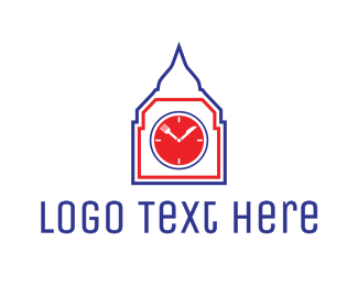 Big Ben - London Restaurant Clock Tower logo design