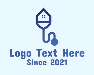 Medical - House Stethoscope Clinic logo design