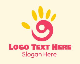 Hand Paint - Kiddie Art Class logo design