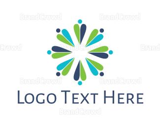 Crowd - Flower Crowd logo design