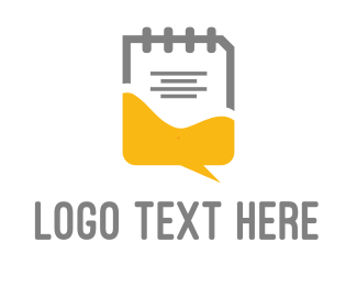 Forum - Chat & Notes logo design