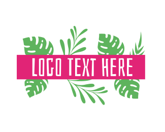 Spring Break - Tropical Ferns logo design