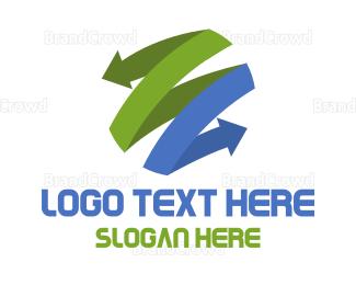 Globe - Arrow Globe logo design