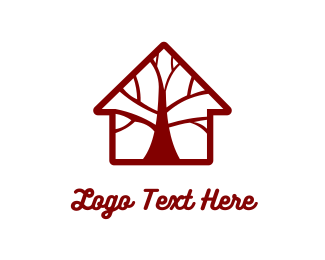 Cabin - Brown Tree House logo design