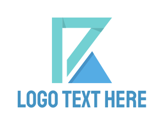 Construction - Triangle Letter logo design