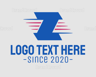 Lettermark Z - Blue Letter Z logo design