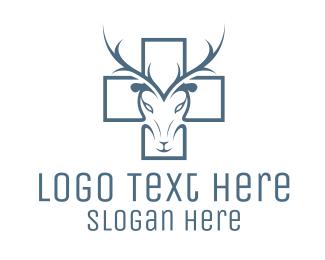 Hospital - Cross & Deer logo design