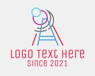Meteorologist - Telescope Line Art logo design