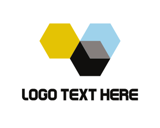 Hive - Abstract Beehives logo design