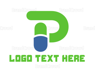 Pharmaceutic - Capsule Letter P logo design