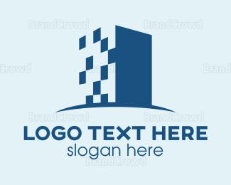 Business Center - Digital Building logo design