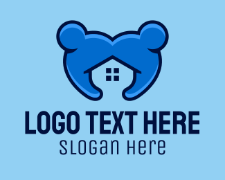 House Hunting - Blue People House  logo design