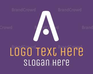 Tennis - White Tech Letter A logo design