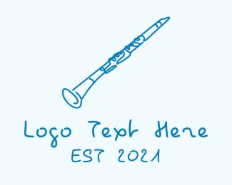 Acoustic - Clarinet Musical Instrument logo design