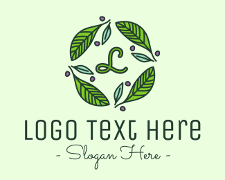 Environmentalist - Ornamental Green Wreath logo design