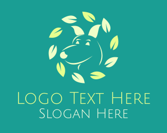 Pet Clinic - Eco-Friendly Dog logo design