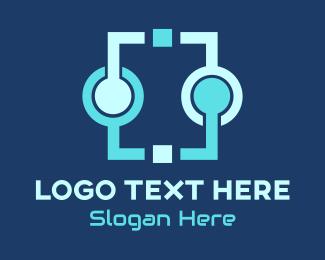 Connect - Data Connect logo design