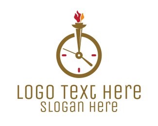 Wrist Watch - Clock Torch logo design