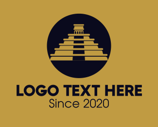 Landmark - Chichen Itza Mayan Landmark logo design