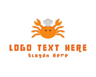 Shellfish - Crab Chef logo design