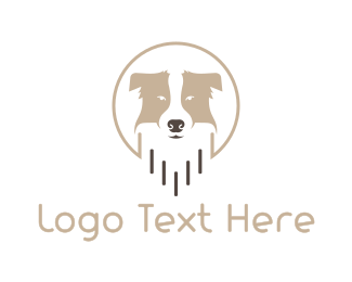 Pet Care - Friendly Dog Badge logo design