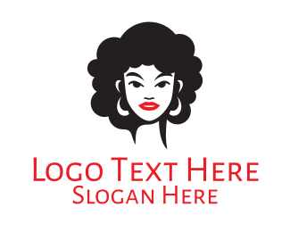Glamour - Curly Woman Beauty logo design