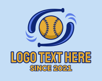 Softball Tournament - Baseball Double Bat  logo design