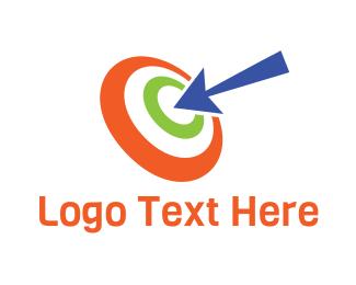 Business Solutions - Colorful Target Arrow logo design