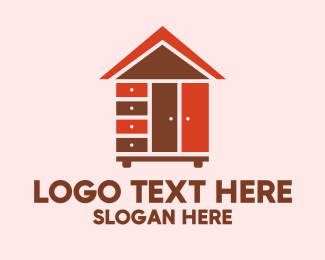 Cabinet - Furniture Housing Property logo design