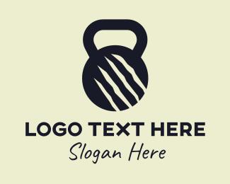 Gym Equipment - Ripped Gym Kettlebell Equipment logo design