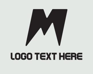 Volcano - M Mountain logo design