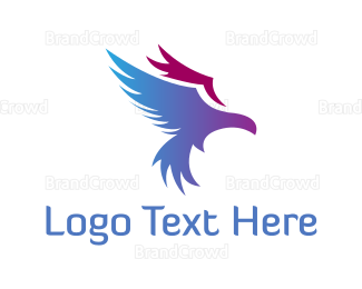 Blue And Purple - Purple Eagle logo design