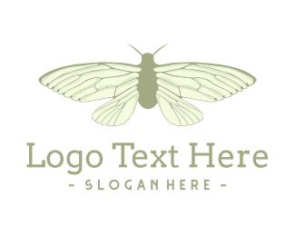 Small - Green Cicada logo design