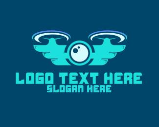 Vision - Drone Tech logo design