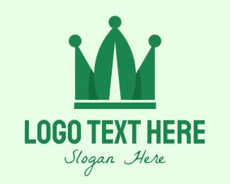 Unity - Green Leaf Crown logo design