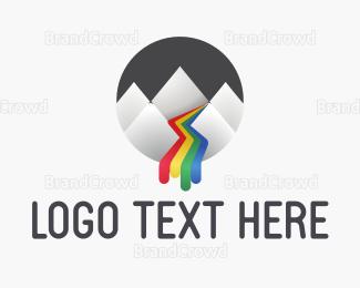 Flow - Ink River logo design