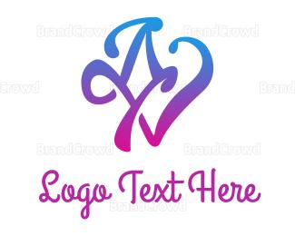 Activity - Gradient Blue AV logo design