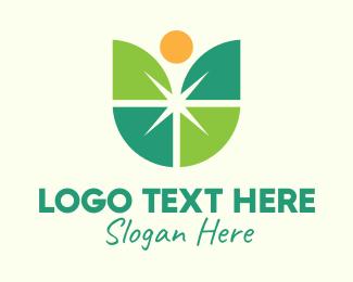 Sparkly - Shiny Tulip Flower logo design