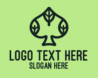 Spade - Eco Leaf Spade logo design